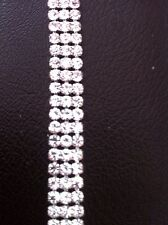 3 Row Diamante Crystal Rhinestone Chain Trims Wedding Cake SS16 4mm Browband Sew