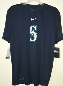 New NWT Seattle Mariners Nike Dri-Fit Athletic Cut Large T-Shirt