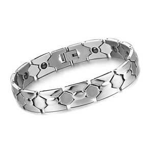 POWER IONICS New Titanium Magnetic Power Ionic Bracelet Wristband Free Shipping