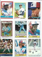 Expos All-Time Greatest Lot of (60) Different Carter Guerrero Dawson Cromartie