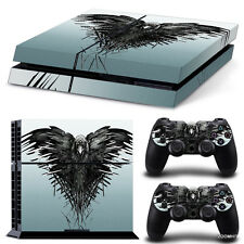 PS4 Playstation 4 Console Skin Decal Sticker Game Of Thrones + 2 Controller Set