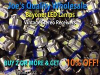 (10)BAYONET LED-LAMPS/6.3V AC-COOL BLUE--BULBS -MC/MAC/1866-1888-1847 McIntosh