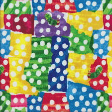 The Very Hungry Caterpillar Bright Patches Spots Kids Quilting Fabric FQ or Metr