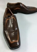Giorgio Brutini Mens 10.5 D Brown Leather Private Collection Loafers Shoes