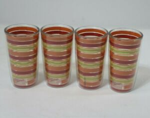 4 TERVIS FIESTA BAND STRIPE RING 4 COLORS INSULATED TUMBLER 16 OZ