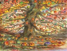 MULTICOLORED HALLOWEEN TREE Art Print by The Halloween Tree Artist JOHN YORK
