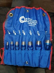 """O'Brien Consolidated Industries 7-Piece Arch Punch Set - Sizes 1/4""""-1"""""""