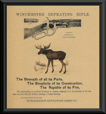 Winchester 1873 Repeating Rifle Advertisement Reprint On 100 Year Old Paper 156