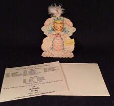 VINTAGE Hallmark Doll Card Land Of Make Believe Series #2, Cinderella
