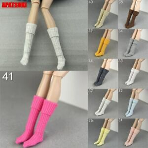 """Winter Warm Casual Loose Long High Socks for 11.5"""" Doll Stocking for Blythe 1/6"""