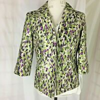 Investments Open Front Jacket size 8 Grapes and Vine Women's Blazer