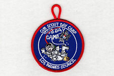 BSA mint Cub Scout Day Camp Los Padres Council event patch w/loop merged council