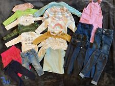 LOT of Girls Clothes Size 12-18 months, 25 PCs, Sweaters, Jumpers, Pants, Pjs