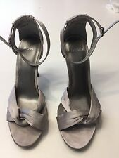 Novo Pascal Silver Satin Heels for Wedding/Party/Function/Special Occasion. Sz 8