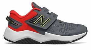 New Balance Kid's Rave Run Little Kids Male Shoes Grey with Red & Green