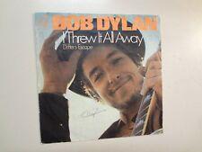 """BOB DYLAN: I Threw It All Away 2:23- Drifter's Escape-Holland 7"""" 69 CBS 4219 PSL"""