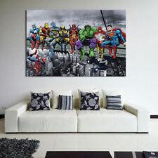 Super Hero Oil Painting Art Mural Canvas Print Wall Art Home Room Decor Fashion