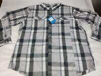 NWT Columbia Omni-Shade Long Sleeve Shirt Men's Grey Silver Ridge Size  3XL