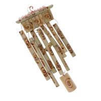 Jardin de carillon de vent en bambou - 8 carillons en bois de grand tube à