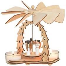 Weihnachtspyramide Engel 2 Teelichter Holz 1-stöckig Tischdeko 1 Stk 14x11 cm