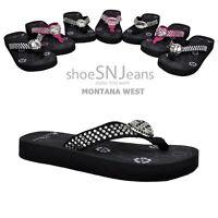 Montana West New Style Western Jeweled Bling Flip Flop/Sandals Sports Rhinestone