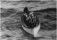 Titanic Survivors in Lifeboat, Reprint Photo 12x8 inches
