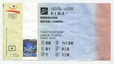 Orig.ticket Juegos Olímpicos Barcelona 1992-Atletismo 08.08. / 9 final `s!!