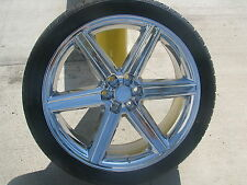 "24"" Rims and Tires IROC Chrome Rims 6 lug Titan Armada Sierra Suburban Tahoe 28"