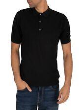 John Smedley Men's Roth Pique Poloshirt, Black