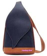Handbag Bliss Soft Italian Leather Backpack / Shoulder Bag Handbag Leaf Flap