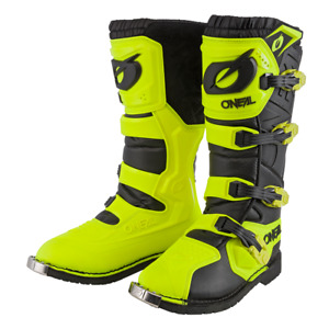 Oneal Rider Off-Road Motocross Enduro Trial ATV Quad Neon Yellow Pro Boots