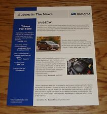 2008 Subaru Tribeca Fast Facts Sales Sheet Brochure 08