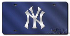 New York Yankees BLUE Deluxe Laser Cut Inlaid Acrylic License Plate Tag Baseball