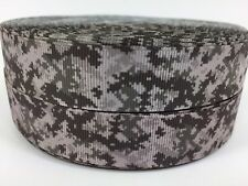 "BTY 7/8"" U.S. Military Digital Camo Dk Brown Grosgrain Ribbon Hair Bows Lisa"