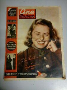 Giornale Cine Illustrato 3 / Aprile / 1949 Ingrid Bergman Alexis Smith n°14