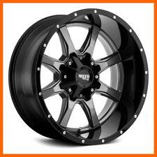 4 17x8 Moto Metal Mo970 568 Lug New Greyblk Wheels Rims Free Caps Amp Lugs
