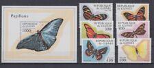 D.Guinea 1716-21 + Block 518 Butterflies (MNH)