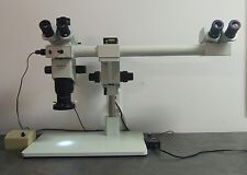 Olympus Microscope SZX9 Dual Head Stereozoom with Trinocular Head