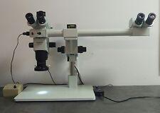 Olympus Microscope SZX9 Dual Head Stereozoom with Trinocular Head