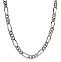 "Men's 30"" Inch Stainless Steel Figaro Chain Link 5mm Necklace C4"