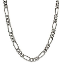 "Men's 22"" Inch Stainless Steel Figaro Chain Link 5mm Necklace C2"