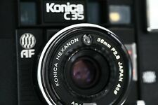 KONICA C35 AF autofocus HEXANON 38mm F2,8 - tested with batteries.