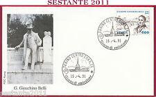 ITALIA FDC ROMA GIUSEPPE GIOACCHINO BELLI 1991 ANNULLO TORINO T908