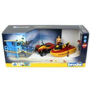 1/16 Bworld Life Guard Station with Quad and Personal Water Craft Bruder 62780