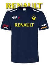 TSHIRT Printed Renault Racing ELF Francia Auto Moto Sport Italia 100% Cotone Blu