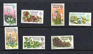 Falkland Islands- 1968 Part set Elizabeth II flowers SG 232- LHM