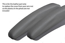 GREY STITCH 2X GREY ARMREST SKIN COVERS FITS MERCEDES V CLASS VITO W638 96-03