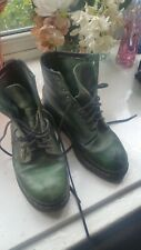 WOMEN'S GREEN DR.MARTENS VTG MADE IN ENGLAND BOOTS SIZE UK 6