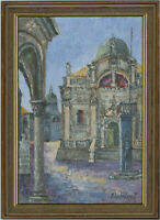 Pavlicevic - Croatian Contemporary Oil, View of a Church