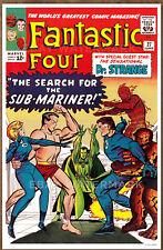 Fantastic Four #27  poster art print '92  Jack Kirby  Doctor Strange Sub Mariner